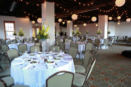 Garden Ballroom set for 150 guests
